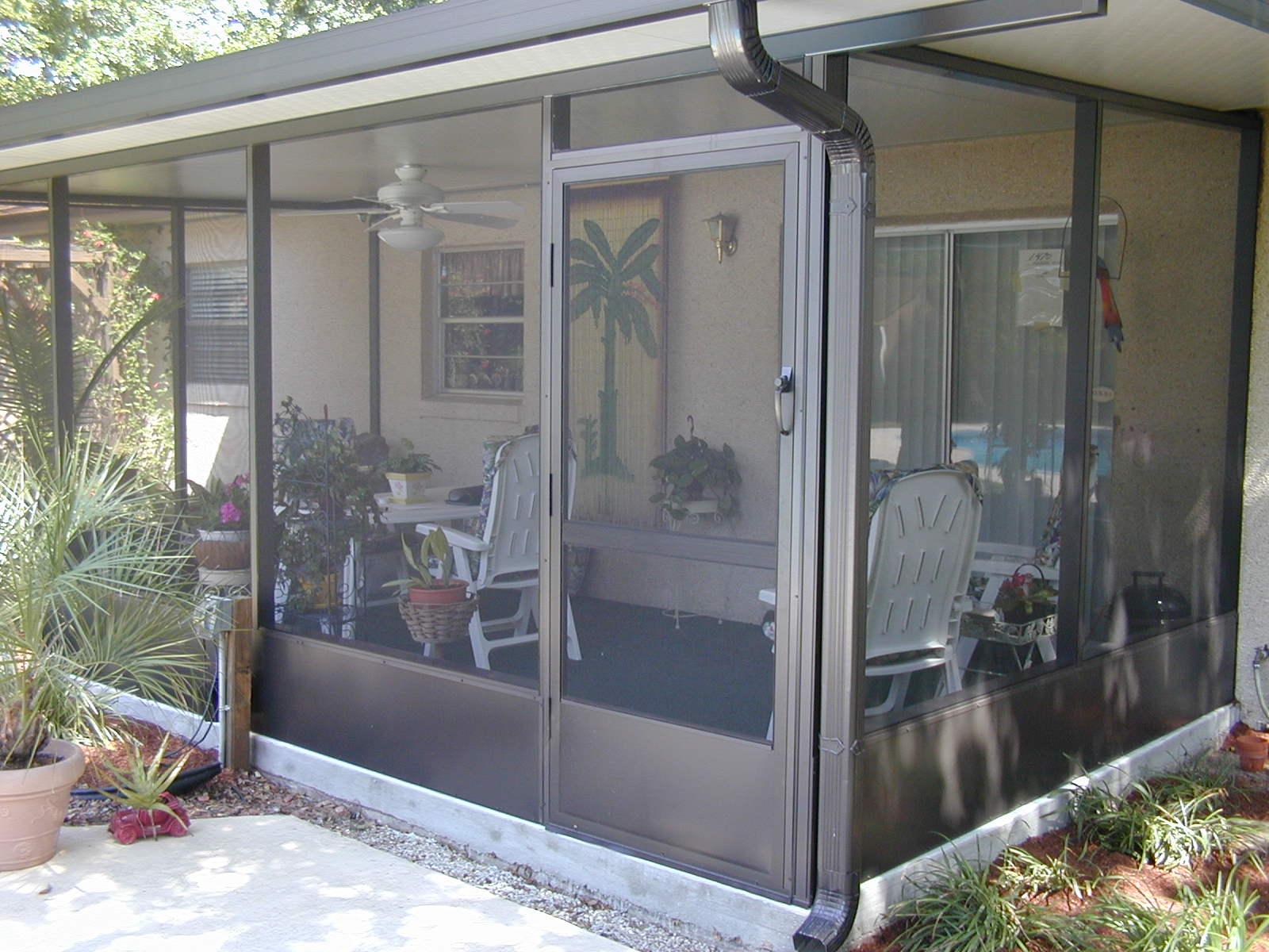 Aluminum room made by kwikscreen